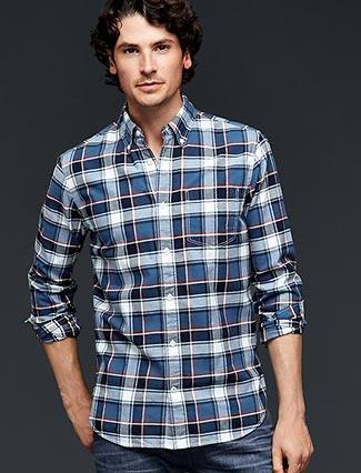 GAPチェックシャツ2