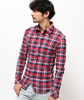 wjkチェックシャツ1