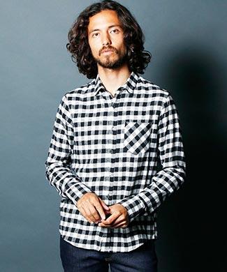 マージンチェックシャツ2
