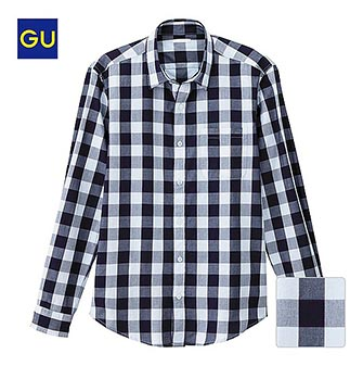 GUチェックシャツ1