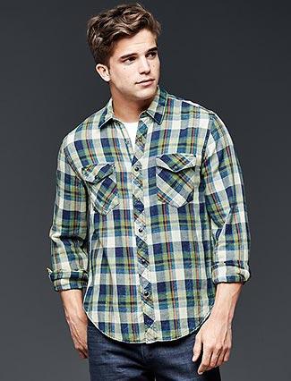 GAPチェックシャツ3