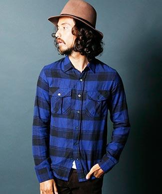 マージンチェックシャツ3