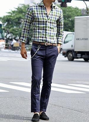バルバチェックシャツ1
