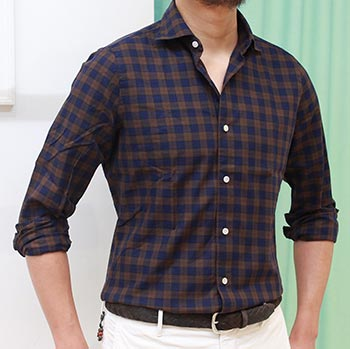 フィナモレチェックシャツ3