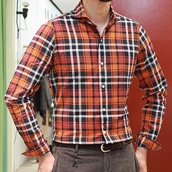フィナモレチェックシャツ2