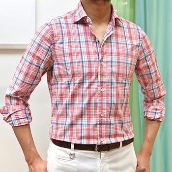 フィナモレチェックシャツ1