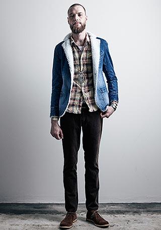 マージンチェックシャツコーデ2