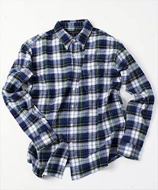 SHIPSチェックシャツ1