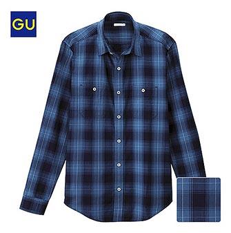 GUチェックシャツ2