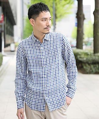 グローバルワークチェックシャツ1