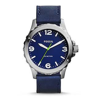 フォッシル青腕時計