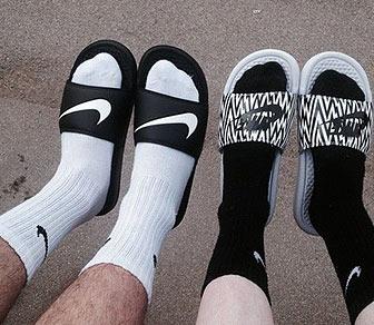 ナイキサンダル靴下