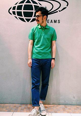 ラコステポロシャツ緑2