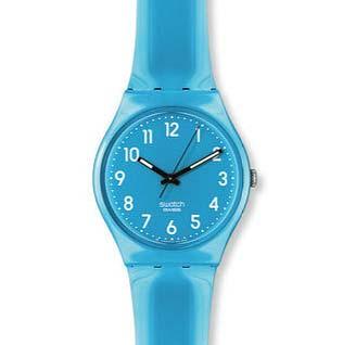 スウォッチ青腕時計
