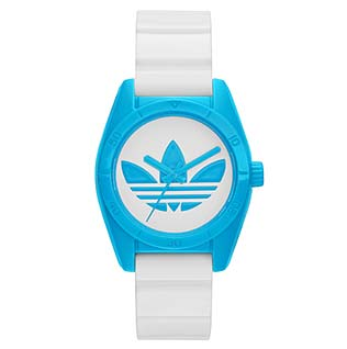 アディダス青腕時計