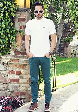 ラコステ白ポロシャツ3