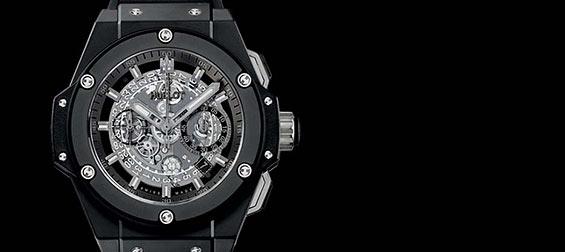 オールブラック腕時計