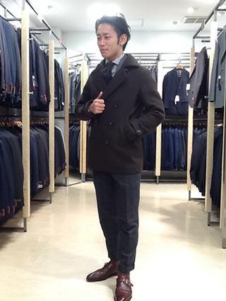 pコートスーツコーデ1