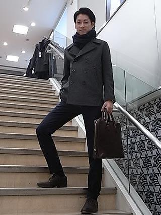 pコートスーツコーデ2