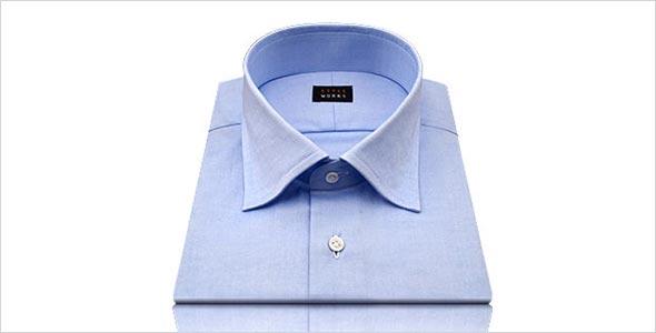 ワイド衿シャツ