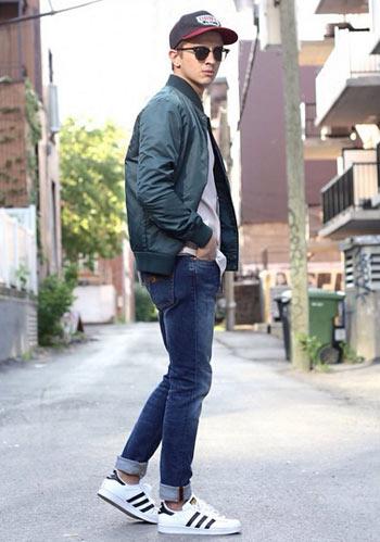 スリムジーンズ着こなし (7)
