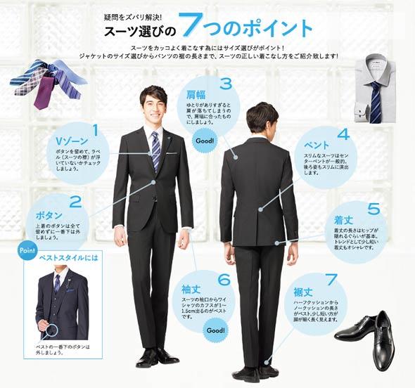 就活スーツ選び方