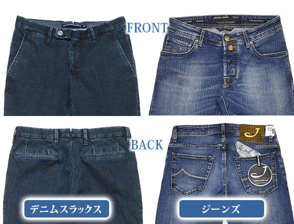デニムスラックスとジーンズの違い