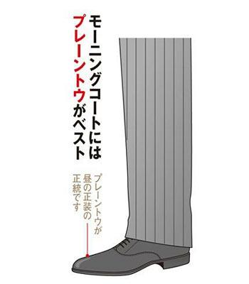 モーニングコートと靴