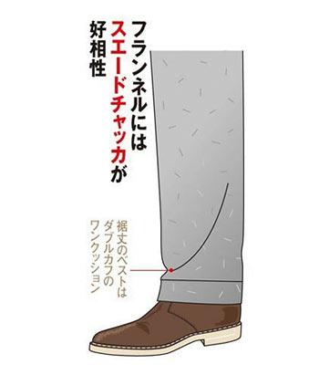 フランネルパンツと靴