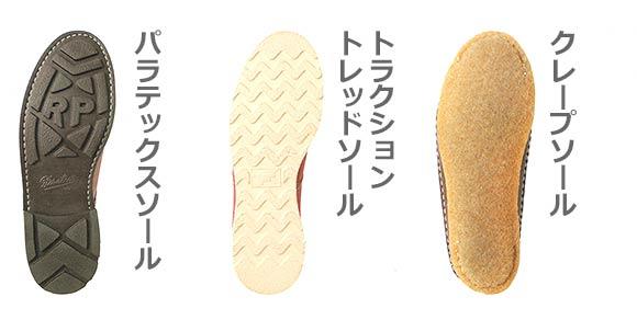 ブーツ ソールの種類2