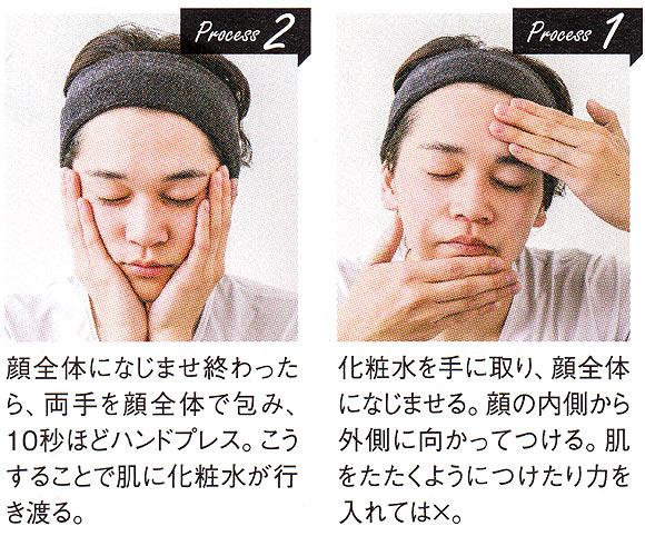 メンズ化粧水の付け方