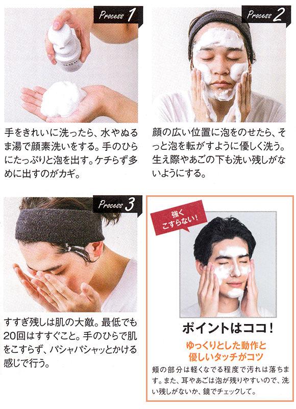 メンズ 洗顔方法