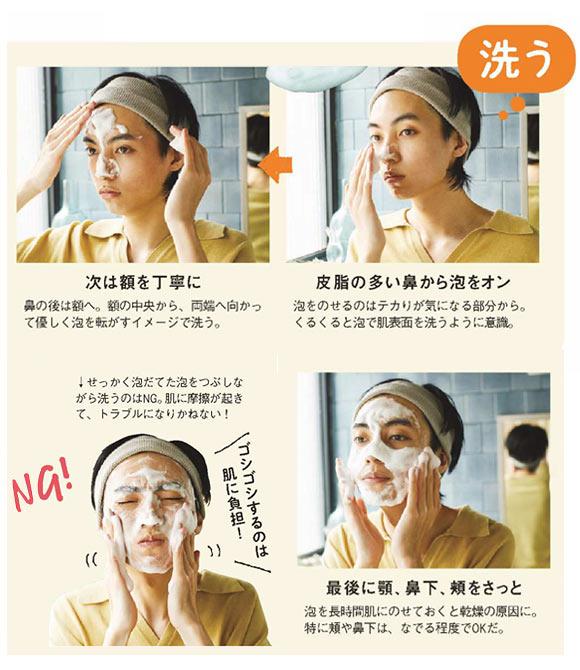 メンズ洗顔 洗う