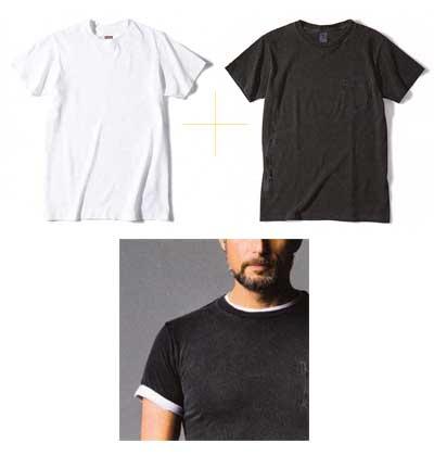 Tシャツ 重ね着