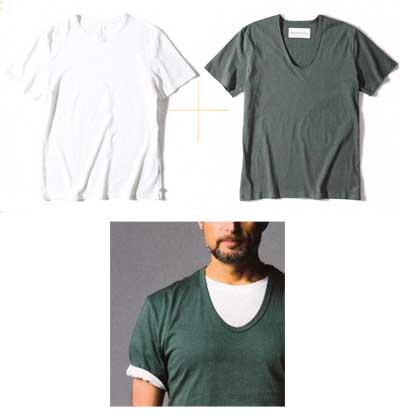 Tシャツ 重ね着2