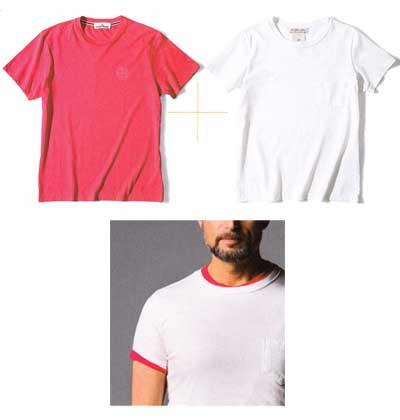 Tシャツ 重ね着3