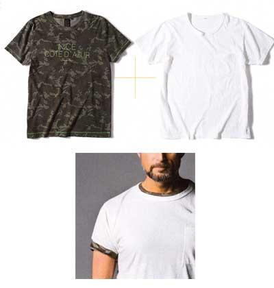 Tシャツ 重ね着4