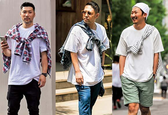 Tシャツ シャツ巻き