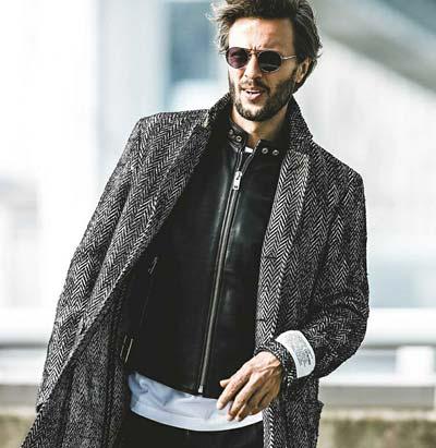 レザージャケット×コート