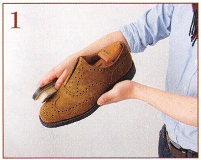 スエード靴 メンテナンス