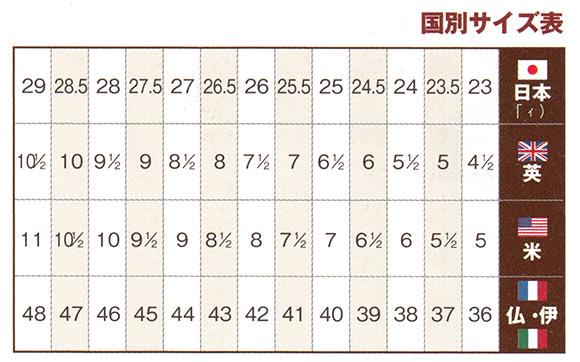 靴 国別サイズ表