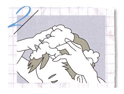 男性 洗髪方法
